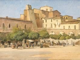 """Sulmona-""""La piazza di Sulmona"""" di Edvard Petersen"""