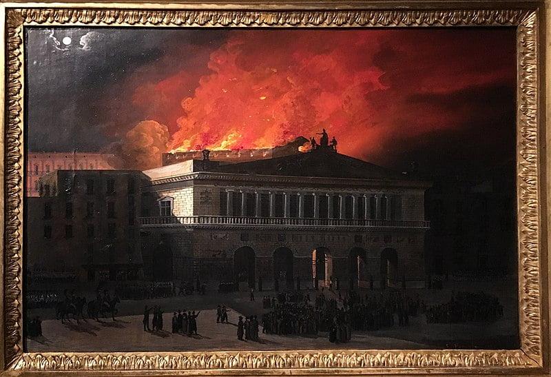 Teatro San Carlo incendio