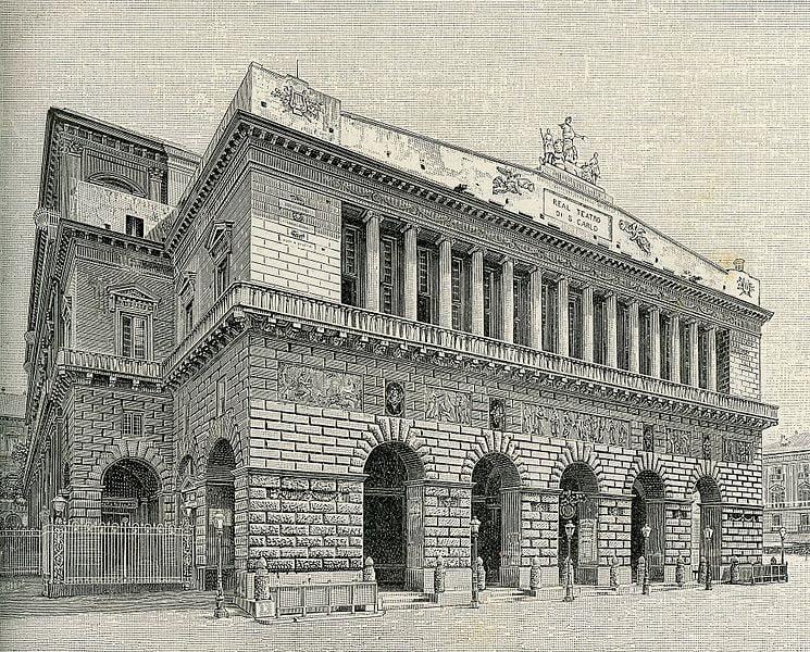 Teatro San Carlo xilografia